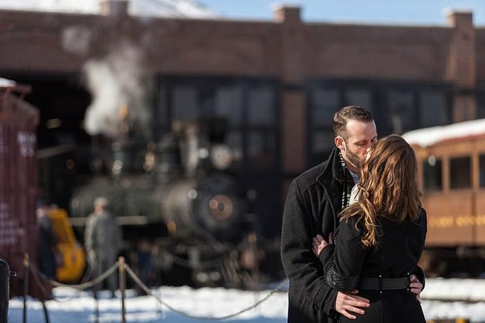 8 Train Engagement | Bergreen Photography | Via MountainsideBride.com