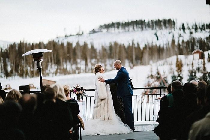 Rustic Devil's Thumb Ranch Winter Wedding   Colorado