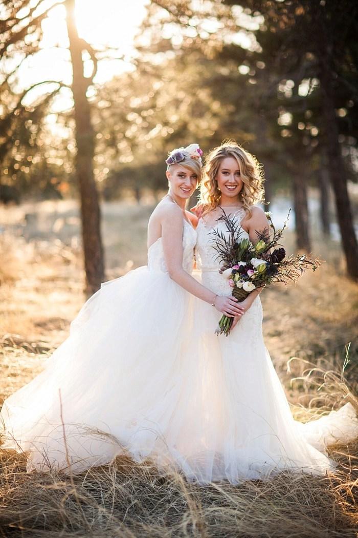 17 Colorado Same Sex Boho Wedding Inspiration | Katie Keighin Photography |via MountainsideBride.com