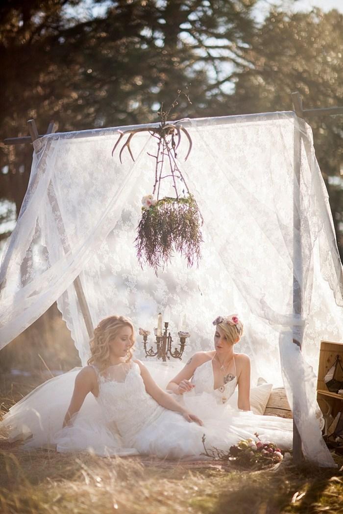 20 Colorado Same Sex Boho Wedding Inspiration | Katie Keighin Photography |via MountainsideBride.com