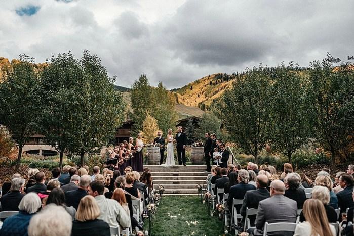 Flawless Fall Mountain Wedding   Vail Colorado