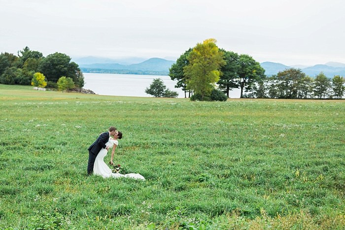Lakeside Vermont Wedding with Forest Green Details
