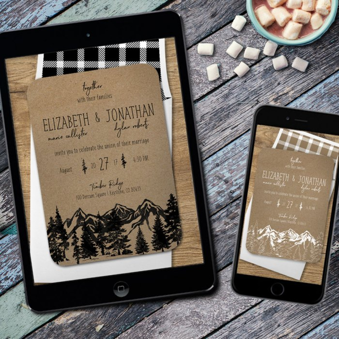 National Park Wedding Invitations Np 3 Opt