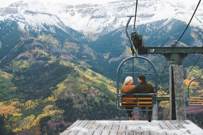 Snowy Late Fall Engagement in Telluride