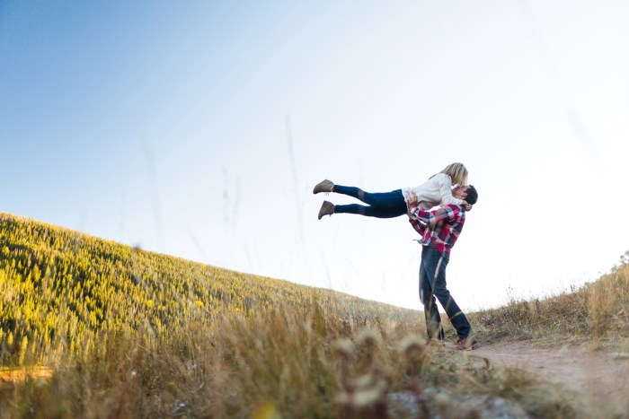 21 Fall Engagement In Vail Colorado Bergreen Photography Via MountainsideBride