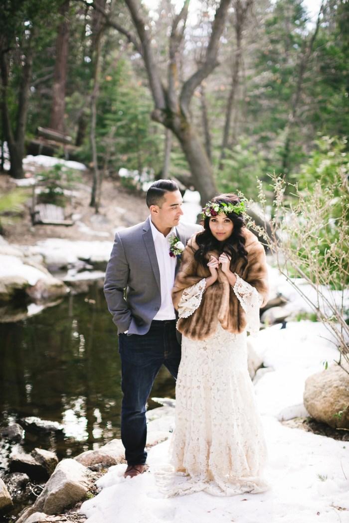 22 Big Bear Winter Wedding Inpiration Sarah Mack Photo Via MountainsideBride.com