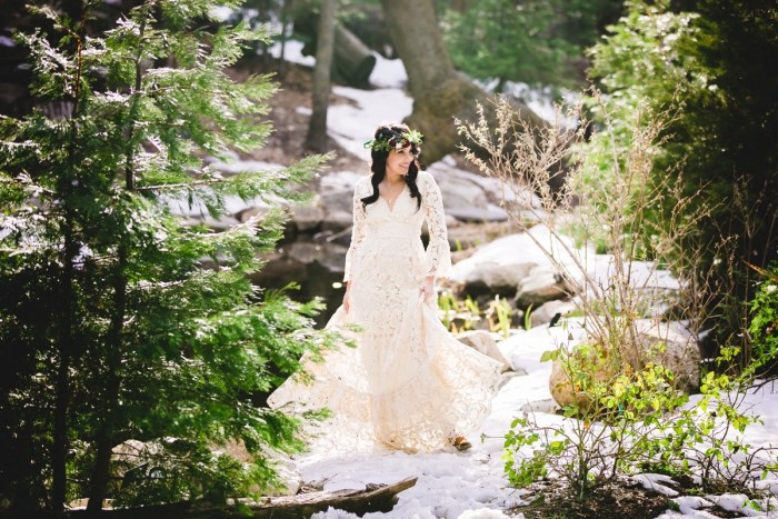 Woodland Boho Wedding Style in Big Bear, CA