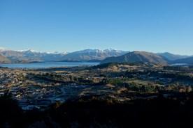 Wanaka & Lake Wanaka seen from Mt Iron