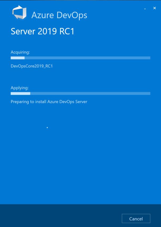 Installation of AzureDevOps Server 2019 RC1 for your Team