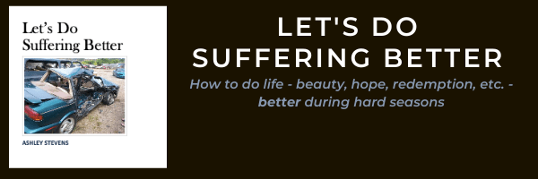 Let's Do Suffering Better by Ashley Stevens at Mountains Unmoved