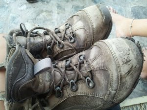 My Hi-Tech boots that reached the end of their life after 1000 miles.