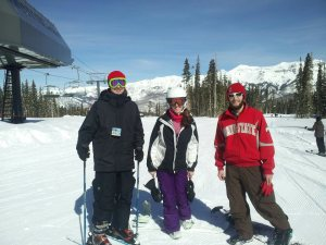 Using my free ski pass in Telluride, Colorado.