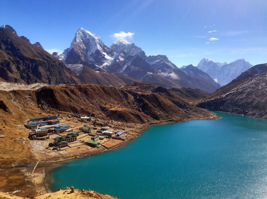 The village of Gokyo.