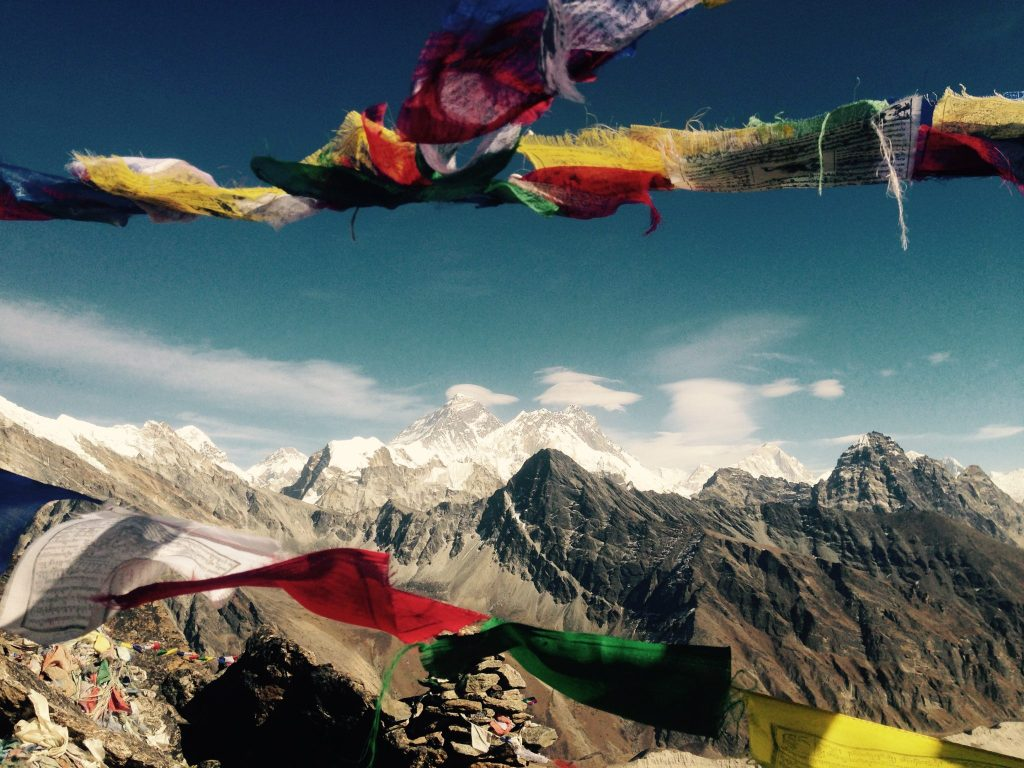 Views of Everest.