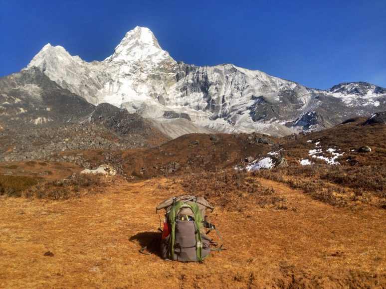 Heading up to Ama Dablam base camp