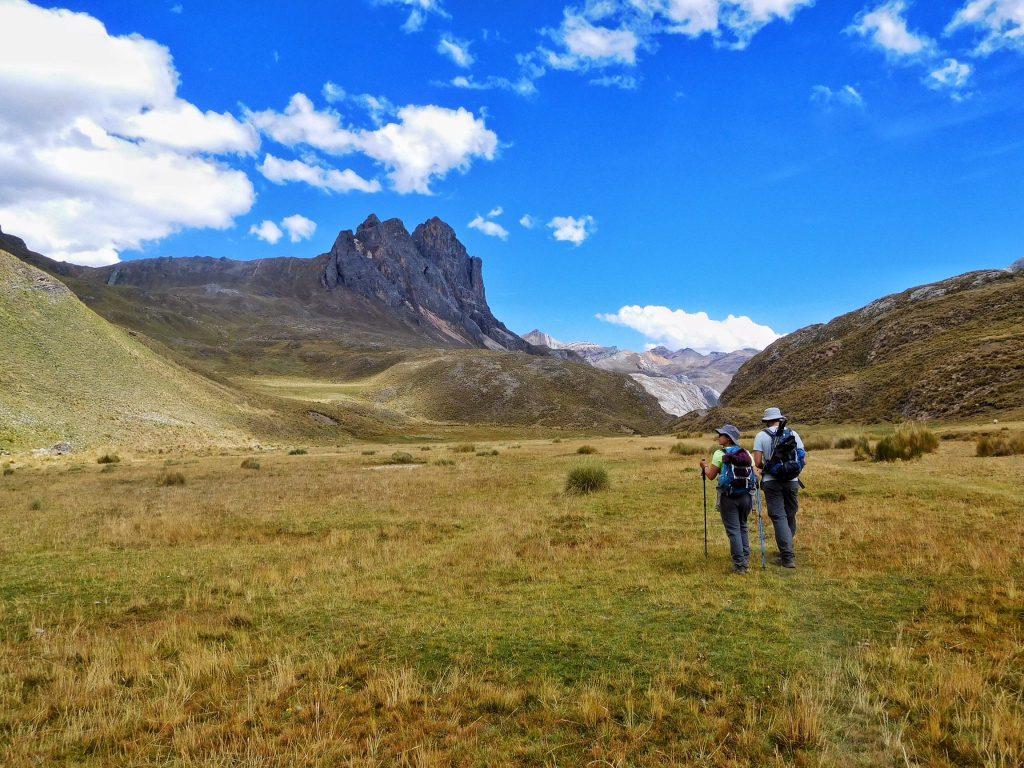 Blue skies on the Cordillera Huayhuash