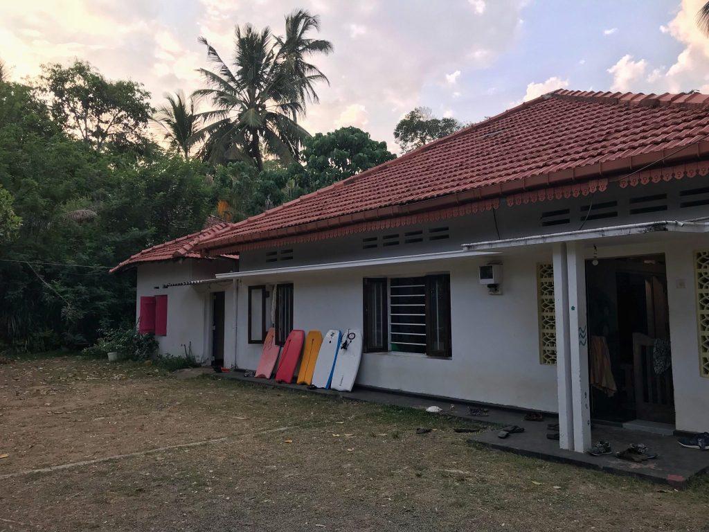 white peacock hostel in Dikwella, Sri Lanka