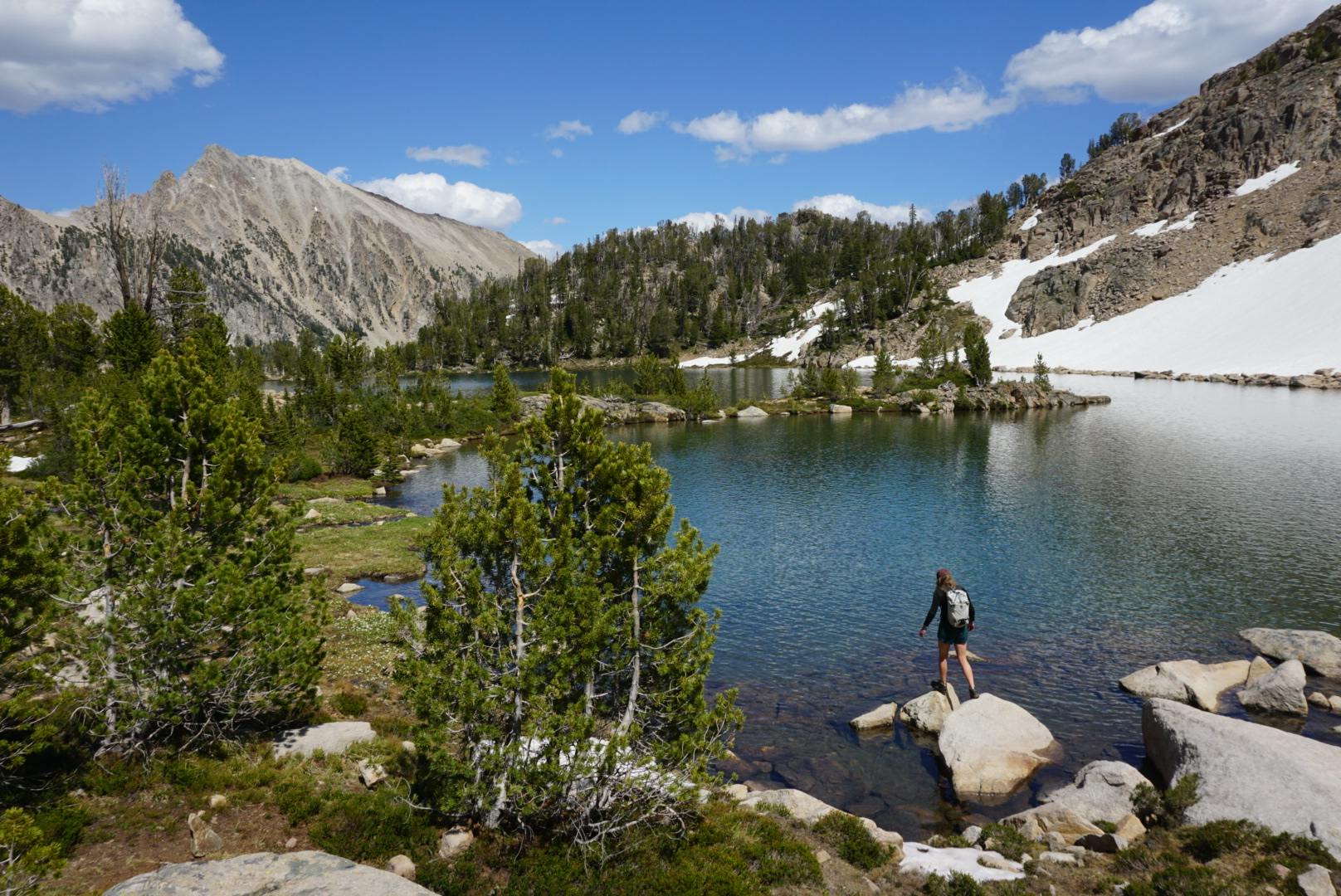 exploring the Boulder Chain Lakes