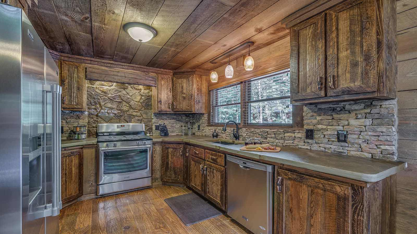 Refined Rustic Rental Cabin  Blue Ridge GA