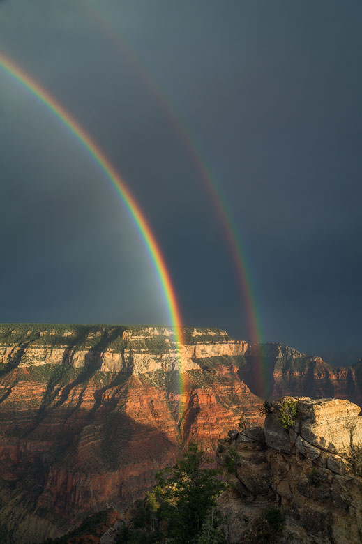 grand canyon double rainbow