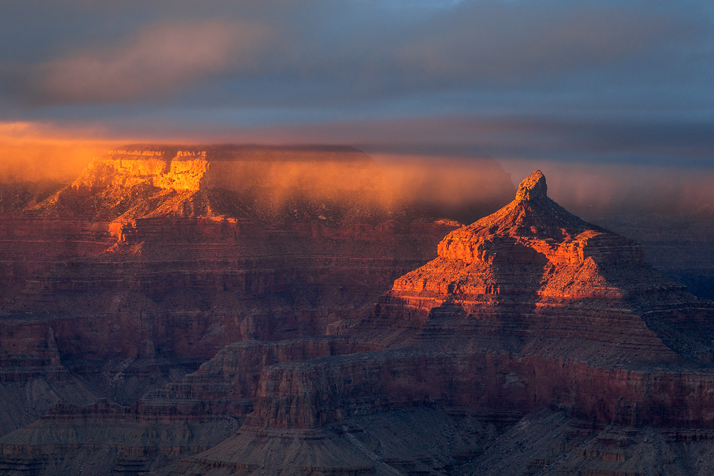 grand canyon red sunset