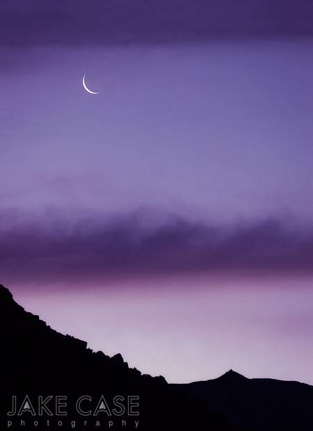 Crescent Moon Sunrise