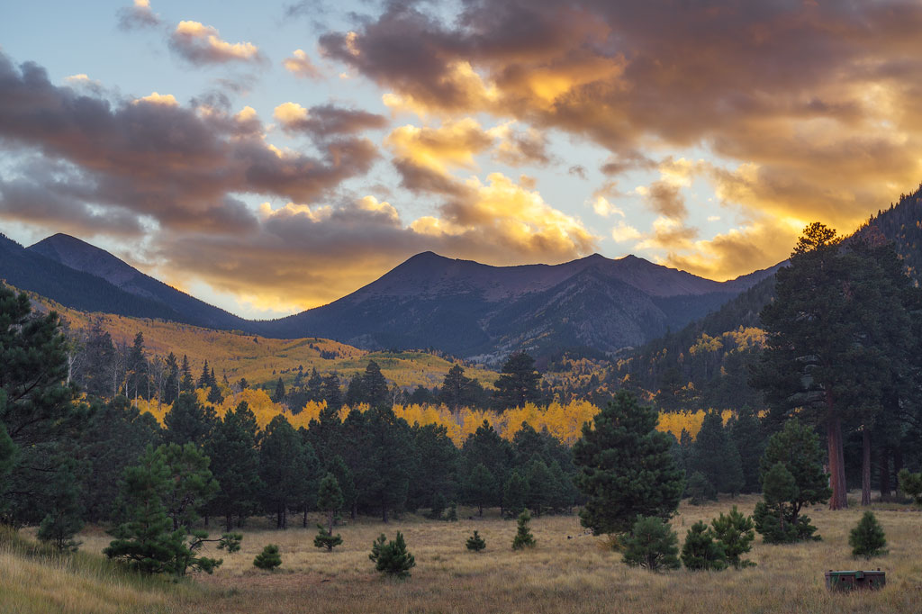 Flagstaff Fall Sunset
