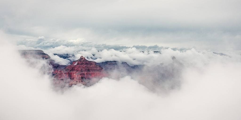 grand canyon fog storm