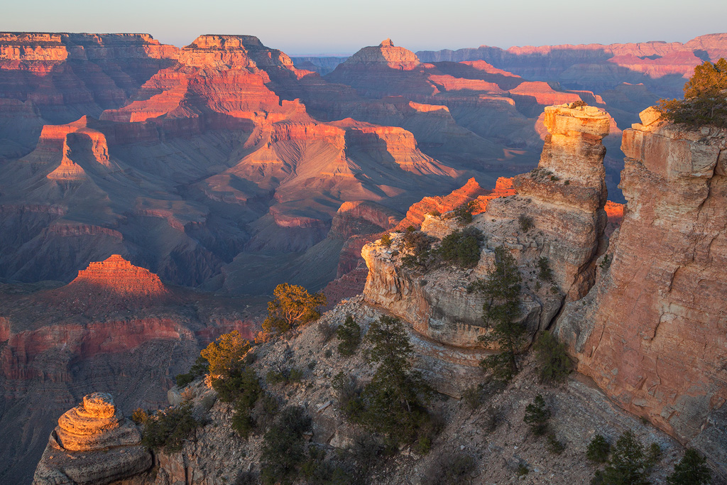 yaki point grand canyon sunset