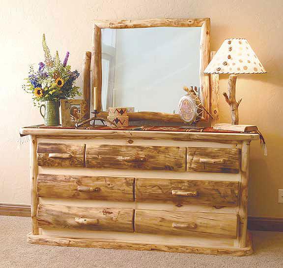Rustic Log Bedroom Furniture  Log Furniture Bed  Reclaimed Wood Log Beds