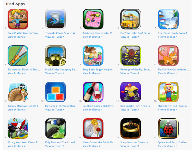 iPad Game Apps