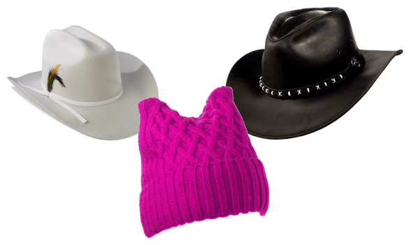 White Hats, Pink Hats, Black Hats and the White House