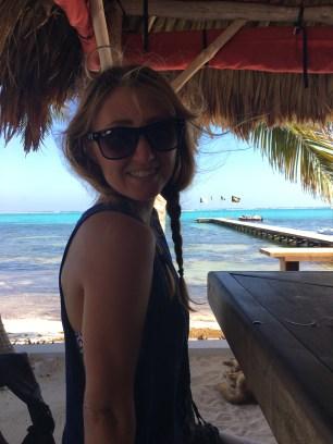 Me at Rojo Lounge- Ambergris Caye Belize