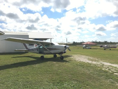 Skydive San Pedro's Cessna at the 2017 Fly In at Spanish Lookout Belize