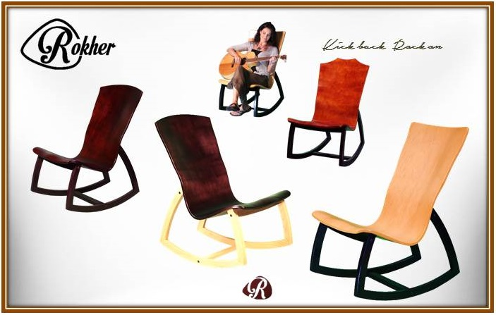 guitar shaped chair big lots lawn covers wnc musician launches ergonomic rocking for players image courtesy of rokher