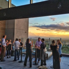The Living Room With Sky Bar White Round Table A View Montford Rooftop Opens At Hyatt Place