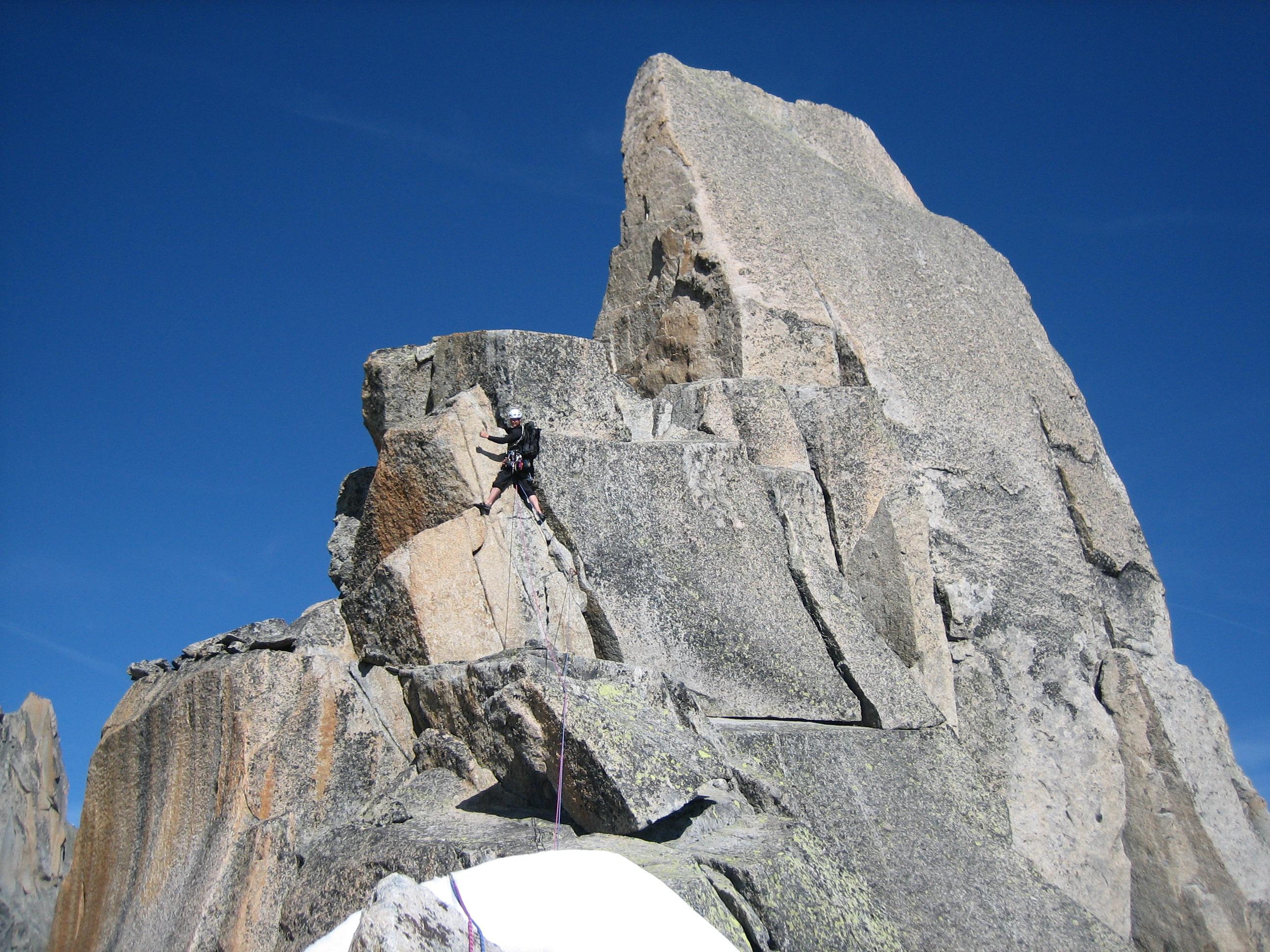 Voor de top van de Aig de la Republique 3305m