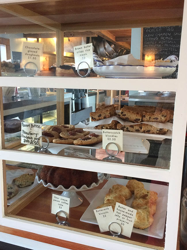 A Bakery Case inside Milk & Honey