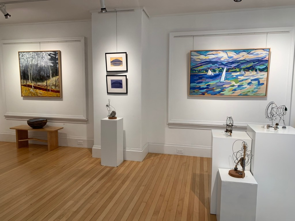 An interior shot of Artemis Gallery.