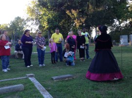 Guests watch a performer at Tales of the Crypt 2013