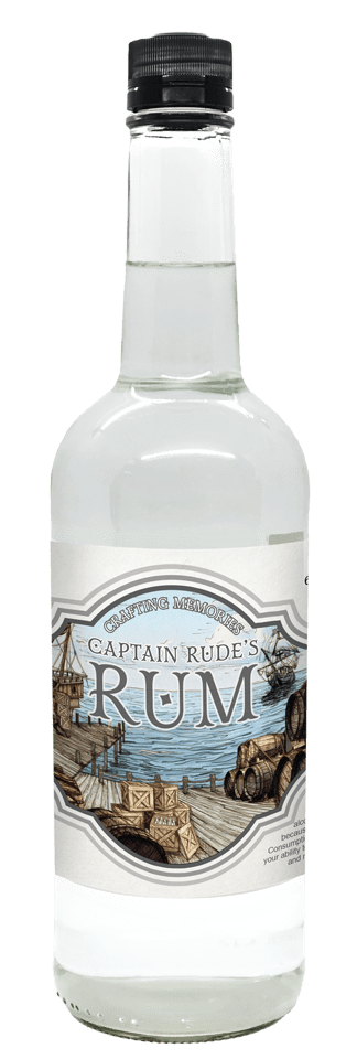 Food Service Rum Bottle