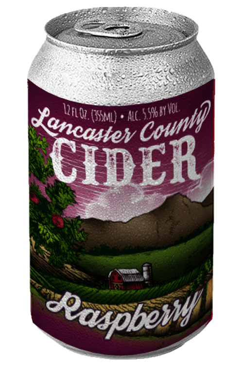 Raspberry Cider Can