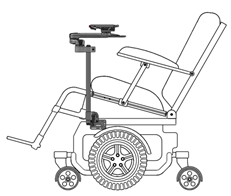 wheelchair base lee west egg chair mounting overview mount n mover if you prefer that the mounted device does not tilt with a tilting attach to sub frame or