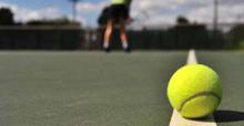 Tennis court - ball - player