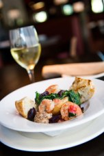 Delicious, sautéed local shrimp in butter, garlic, white wine and seasoning served at Burtons in Mount Pleasant.