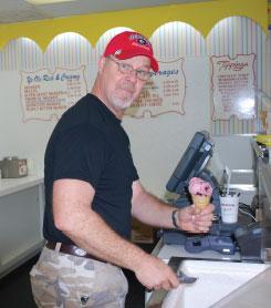 Bryan Cole of Ye Ole Fashioned Ice Cream & Sandwich Cafe, Mt Pleasant, SC
