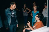 Shepard Fairy with Anthony and others backstage #1
