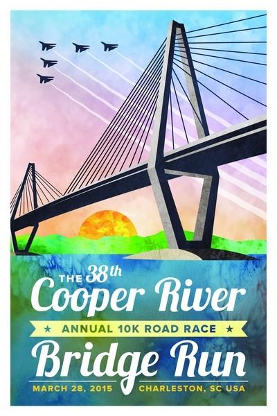2015 Cooper River Bridge Run winning design for 2015 by Shea Tighe