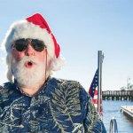 Santa the Sandbird: Off Duty in East Cooper