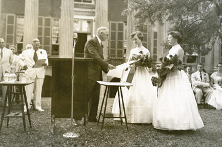Black & White photo of a graduation at the Cistern (photo courtesy of College of Charleston)